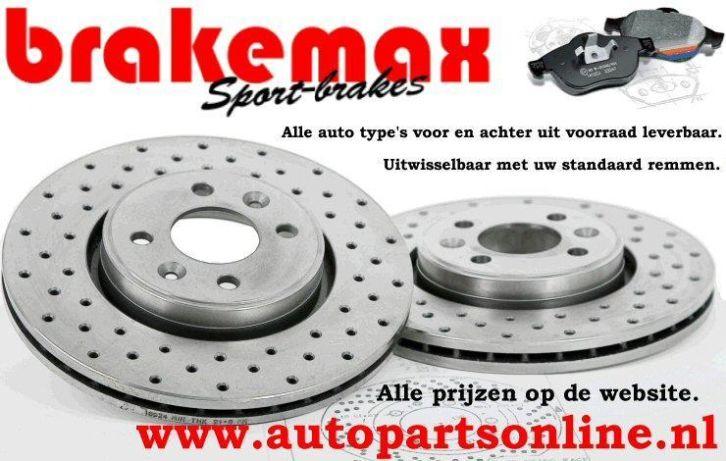 Remschijf achterzijde Brakemax sport voor Audi A5 Cabriolet 2.0 Tdi Quattro