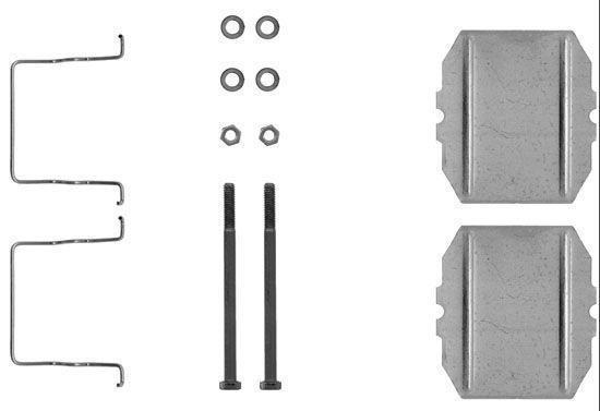 Remblok-montageset achterzijde voor Citroen Bx 1.9