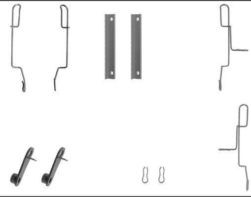 Remblok-montageset voorzijde voor Citroen Bx 1.9