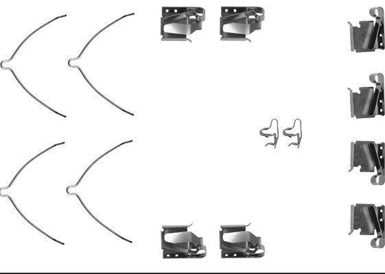 Productafbeelding voor Remblok-montageset voorzijde