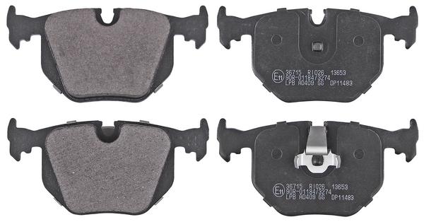Remblokken achterzijde origineel kwaliteit voor Bmw Z4 Coupe (e86) M