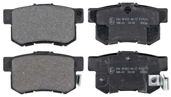Remblokken achterzijde origineel kwaliteit voor Honda Accord V 1.9 I (ce7)
