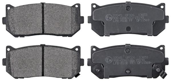 Remblokken achterzijde origineel kwaliteit voor Kia Clarus 2.0 I 16v