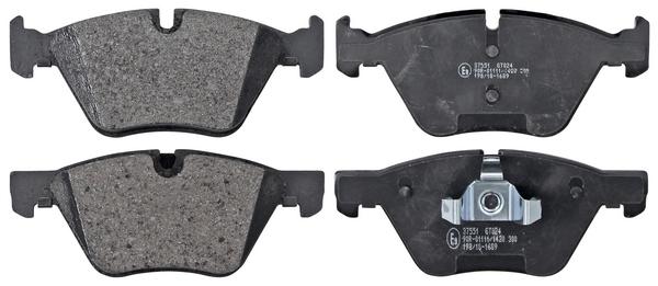 Remblokken voorzijde origineel kwaliteit voor Bmw 1 (e87) 123 D