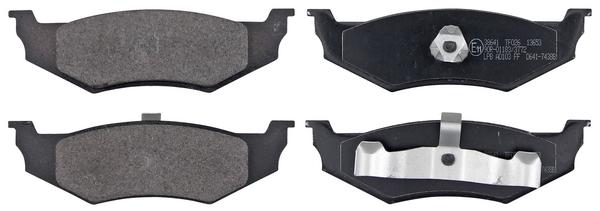 Remblokken achterzijde origineel kwaliteit voor Chrysler Pt Cruiser 2.2 Crd