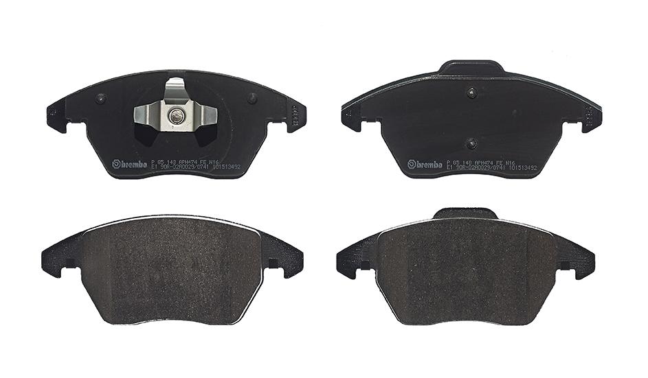 Remblokkenset voorzijde Brembo premium voor Audi A1 Sportback 1.4 Tfsi