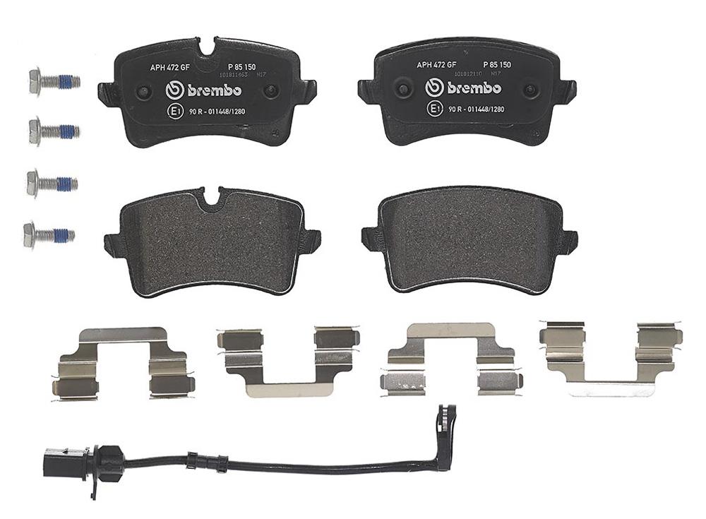 Remblokkenset achterzijde Brembo premium voor Audi A6 Avant 2.8 Fsi