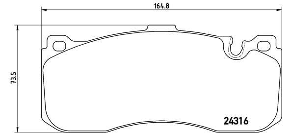 Remblokken voorzijde Brembo premium voor Bmw 3 Cabriolet (e93) 325 I