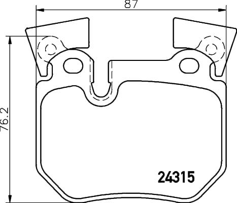 Remblokken achterzijde Brembo premium voor Bmw 3 Cabriolet (e93) 325 I