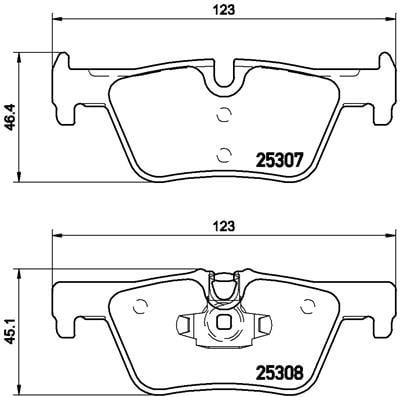 Remblokken achterzijde Brembo premium voor Bmw 4 Cabriolet (f33, F83) 420 D