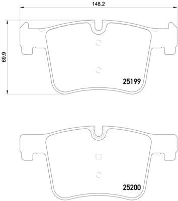 Remblokken voorzijde Brembo premium voor Bmw 3 Gran Turismo (f34) 330 D