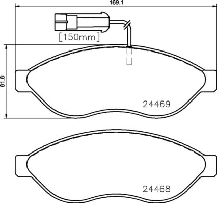 Remblokken voorzijde Brembo premium voor Citroen Jumper Bestelwagen 2.0 Bluehdi 110
