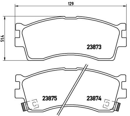 Remblokken voorzijde Brembo premium voor Kia Clarus 2.0 I 16v