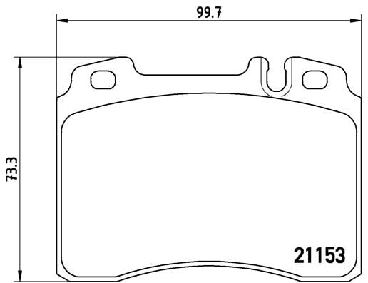 Remblokken voorzijde Brembo premium voor Mercedes-benz E-klasse T-model (s124) E 36 T Amg (124.092)