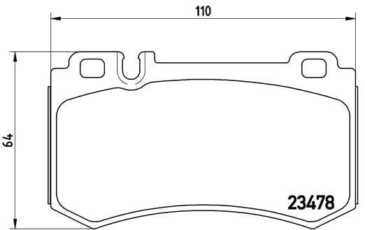 Remblokken achterzijde Brembo premium voor Mercedes-benz S-klasse Coupe (c216) Cl 600 (216.376)