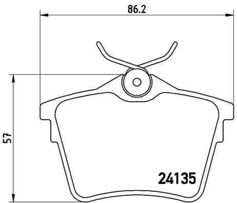 Remblokken achterzijde Brembo premium voor Citroen C5 III 2.0 Hdi 180