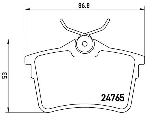 Remblokken achterzijde Brembo premium voor Citroen Berlingo 1.6