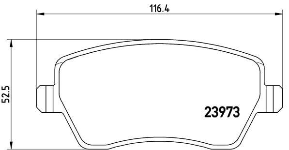Remblokken voorzijde Brembo premium voor Renault Clio IV Grandtour 1.5 Dci 75
