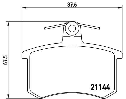 Remblokken achterzijde Brembo premium voor Audi 200 2.1 5e
