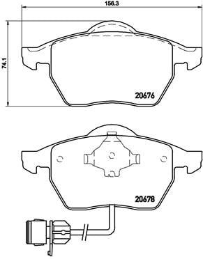 Remblokken voorzijde Brembo premium voor Audi A6 Avant 2.0 16v