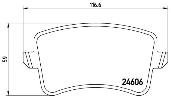 Remblokken achterzijde Brembo premium voor Audi A4 Avant 1.8 Tfsi