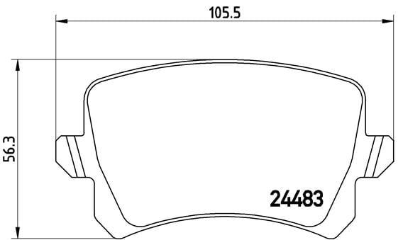 Remblokken achterzijde Brembo premium voor Volkswagen (vw) Passat 1.4 Tsi