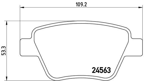 Remblokken achterzijde Brembo premium voor Audi A3 2.0 Tdi Quattro