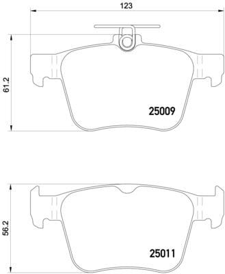 Remblokken achterzijde Brembo premium voor Audi A3 Cabriolet S3 Quattro