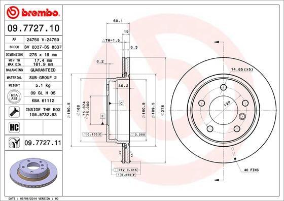 Remschijf achterzijde Brembo premium voor Bmw 3 (e36) 328 I