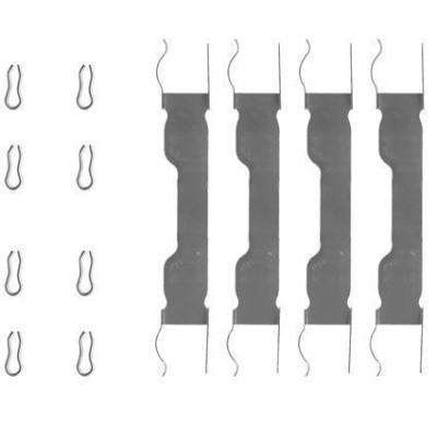 Fiat   Remblok-montageset voorzijde