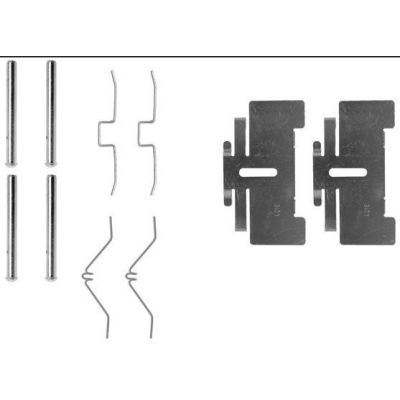 Hyundai   Remblok-montageset voorzijde