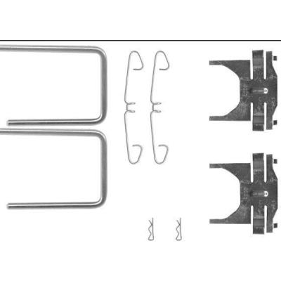 Saab   Remblok-montageset voorzijde
